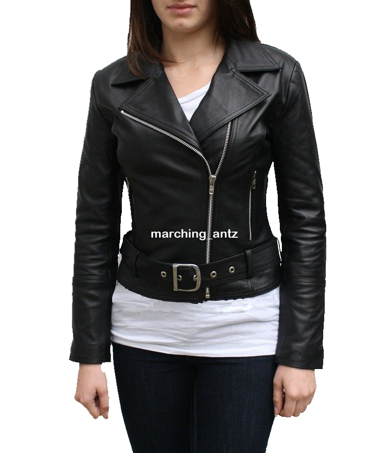 Ladies Leather Jacket Women 221 – MarchingAntz | Online Leather ...