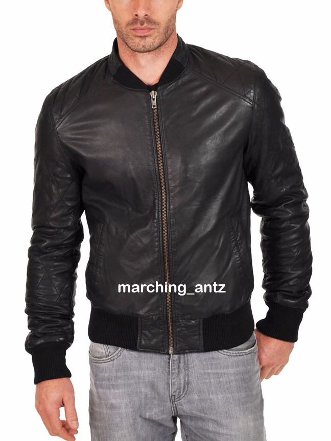 Quilted Sleeves Leather Jacket 513 Marchingantz Online Leather