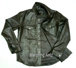 marching antz Leather western shirt