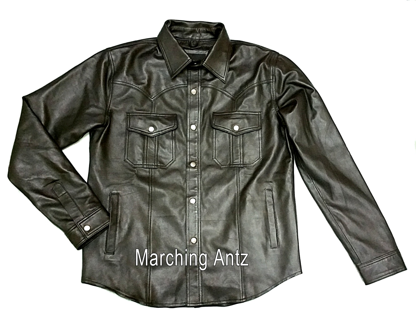 marching antz leather western shirt 1